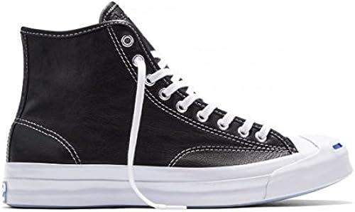 Converse Unisex Jack Purcell Signature Hi schwarz Weiß Weiß 153586C 4.5 Men damen 6