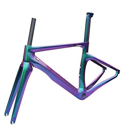 BOC Carbon-Rennrad-Rahmen Scheibenbremsen Di2 Mechanische 3K 1K Carbon-Faser-Straßen-Fahrrad Rennrad Rahmenset Taiwan Bike,LN8.0chameleon
