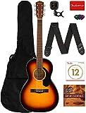 Best Parlor Guitars - Fender CP-60S Solid Top Parlor Size Acoustic Guitar Review
