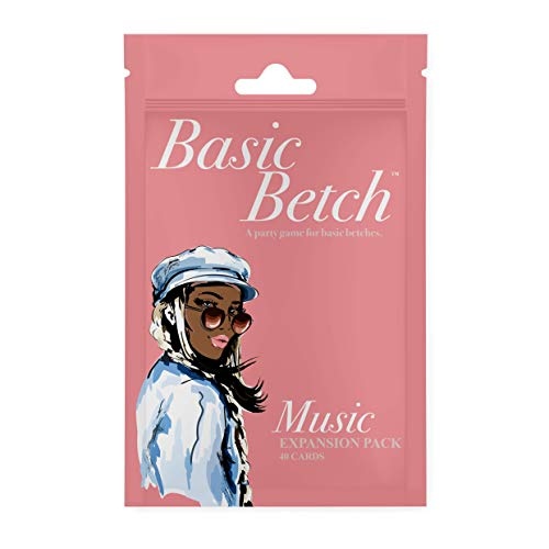 Basic Betch Music Expansion Pack  A for The Girls Night Card Game  The Perfect Bachelorette Party Game  40 Bubbly Cards  FITZ