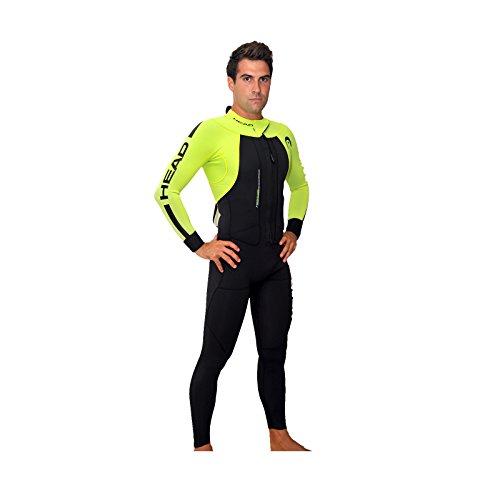 HEAD swimrun Rough Man Wetsuit 4.3.2Herren Tauchanzug, Herren, Schwarz/Gelb, ML