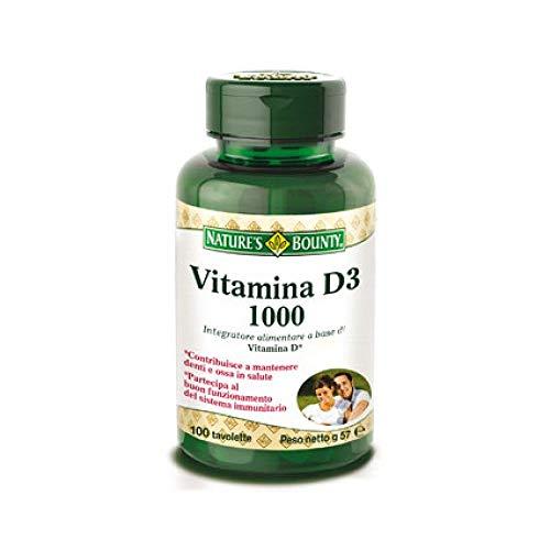 Nature's Bounty Vitamin D3 1000 IU Immune Health, 120 Softgels ( Pack of 1 )