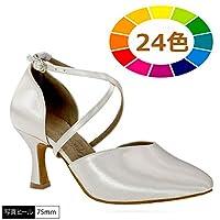 [RUONI] ルオニ 社交ダンス C-FX505-bai 女性兼用染色シューズ 女性ラテンシューズ ダンスシューズ ヒール高:65mm 23.0cm R 12ダークタン