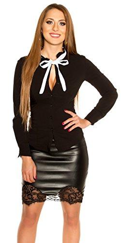 Koucla strak getailleerde blouse hemd met strik