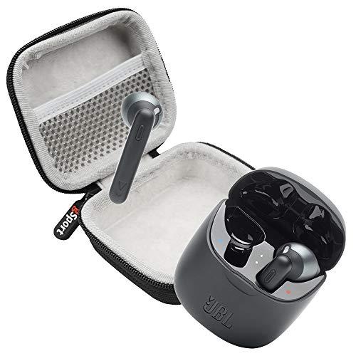 JBL Tune 225TWS True Wireless in-Ear Headphones Bundle with gSport Deluxe Hardshell Case (Black)