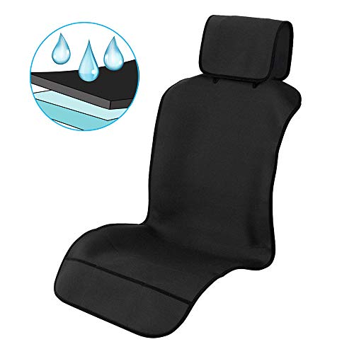 Waterproof Car Seat Covers, Car Front Seat Protector Non-Slip Neoprene, Best Protection from Sweat, Stains and Smell, Universal Fit for Most Cars, Trucks, SUVs, Black【1 Piece】