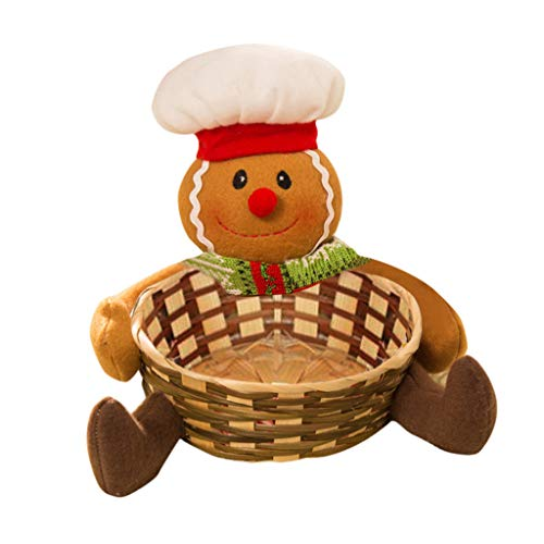 Christmas Basket! Paymenow Clearance 2018 Merry Christmas Decor Toy Doll Gift Home Tree Children Fruit Basket Santa (A)