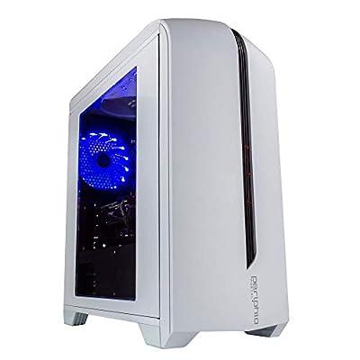 Periphio Portal Gaming PC Desktop Computer Tower, Intel Quad Core i5 3.2GHz, 8GB RAM, 128GB SSD + 500GB 7200 RPM HDD, Windows 10, AMD Radeon RX570 4GB DDR5, HDMI, Wi-Fi (Renewed)