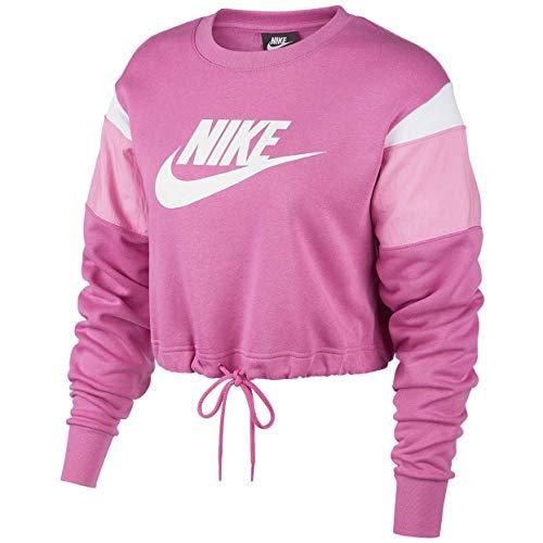 NIKE SP2020 Sweatshirt, Cosmic Fuchsia/Magic Flamingo/White, L Womens