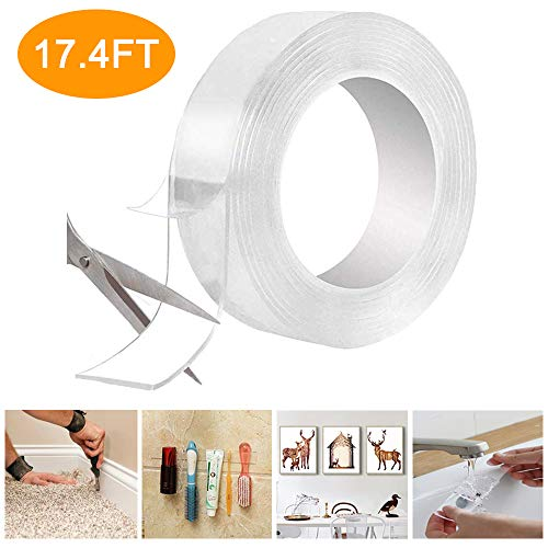 Reusable Nano Adhesive Tape LIUMY Multipurpose Transparent Double Sided
