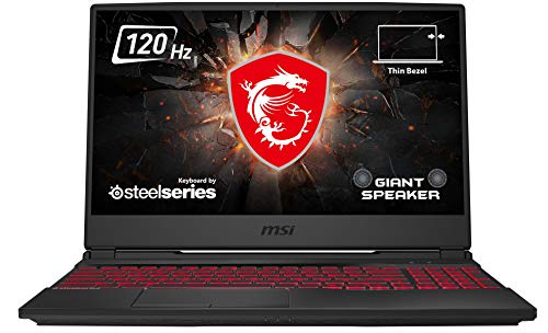 MSI GL65 10SER-201 Leopard (39,6 cm/15,6 Zoll/120Hz) Gaming-Laptop (Intel Core i7-10750H, 16GB RAM, 512GB PCIe SSD, Nvidia GeForce RTX 2060 6GB, Windows 10 Home) schwarz