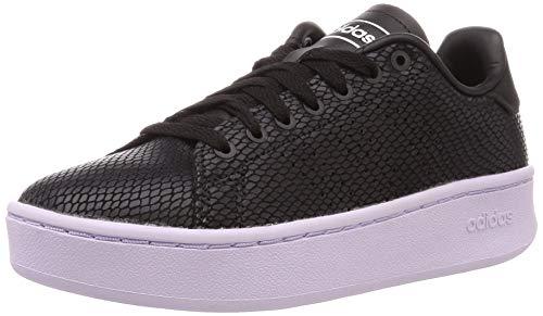 adidas Advantage Bold, Chaussure de Tennis Femme, Noir Noir/Noir Noir/Teinte Violet, 40 2/3 EU