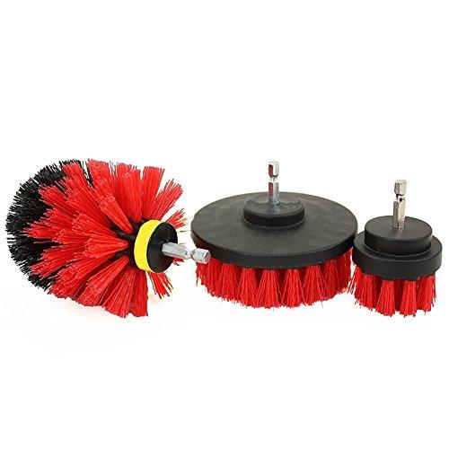 oobest boormachine accessoires voor het reinigen van tanks vloer van nylon met metalen handvat rood