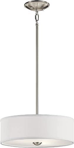 2021 Kichler 43675NI Shailene outlet sale Semi Flush Light, online Brushed Nickel outlet online sale