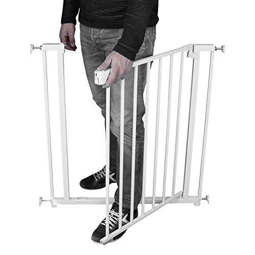 Monsieur Bébé ® Barrière de sécurité extensible - 7 tailles de 73 à 132,5 cm - Norme NF EN1930
