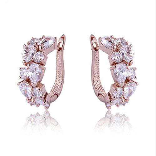 Earrings Women Studs Ladies Fashion Simple Earrings Zircon Earrings Banquet Earrings-D