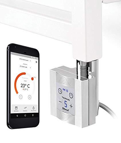 Patrón Calor para Calentadores de Baño con App - Control, Cromo, Blanco,...