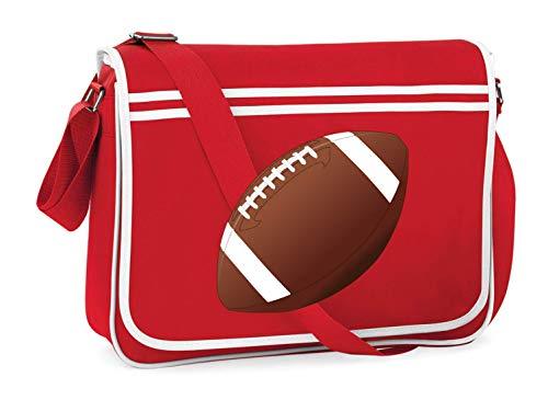 Druckerlebnis24 Schultertasche - Fußball Kugel Fußball Ball - Umhängetasche, geeignet für Schule Uni Laptop Arbeit