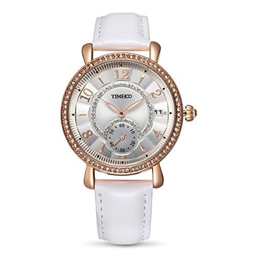 TIME100 W80100L.01A Reloj clásica con Diamantes Brillantes de Correa Piel para Mujer