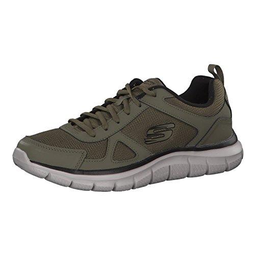 Skechers Sneaker Herren Track SCLORIC 52631 OLBK Olive Black Khaki, Schuhgröße:42