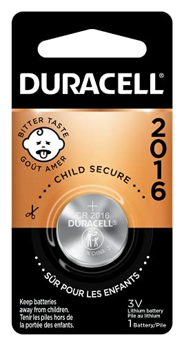 Duracell - 2016 3V Lithium Coin Battery - With Bitter Coating - 1...