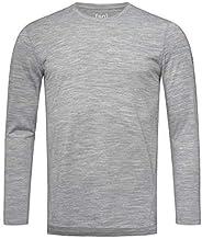 super.natural Heren shirt met lange mouwen, met merinowol, M Base LS 175