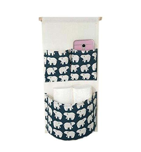 Sac de rangement mural de style simple Deux sac de rangement pour petit sac, Ours polaire