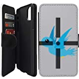 Flip Wallet Case Compatible with iPhone 11 Pro MAX (6.5') (8 Bit Target Game) with Adjustable Stand and 3 Card Holders | Shock Protection | Lightweight | Includes Free Stylus Pen by Innosub