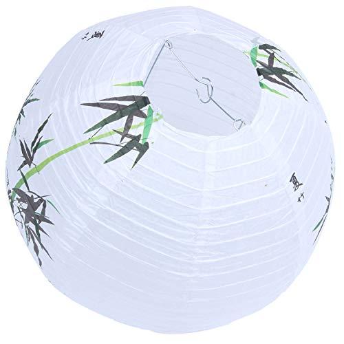 RETTI 30cm Lampenschirm Papier Laterne Orientalisch Stil Licht Dekoration Chinesisch, Bambus