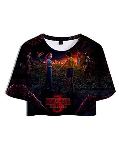 Stampa 3D Stranger Things Maglietta per Donna, Friends Don't Lie T-Shirt Maniche Corte Estate Tops Tee Camicetta Camicia Blusa (H,XS)