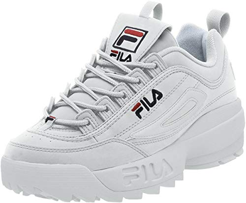 Fila Uomo Disruptor II Leather White Peacoat Red Formatori 41.5 EU