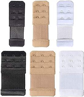 Women's Bra Extenders 2 Hook / 3 Hook / 4 Hook/Elastic Stretchy Bra Extension Strap, Soft Comfortable Bra Band, White/Blac...