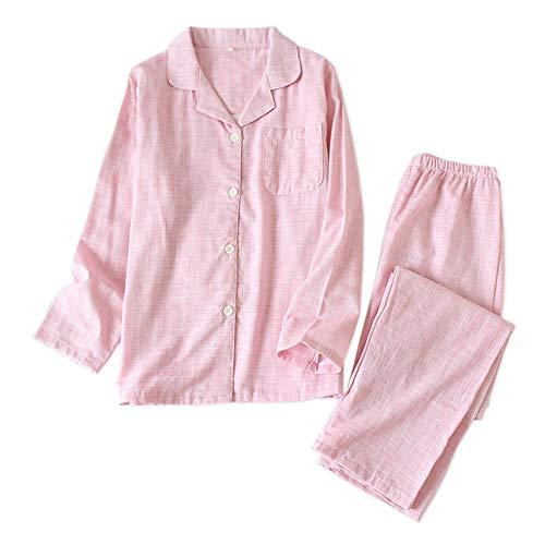 LEYUANA Pyjama,Cotton Couples Pyjamas Sets,Damen und Herren Nachtwäsche Langarm...