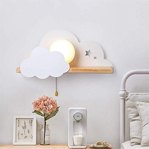 XXLYY Luz de noche LED Luces de pared en forma de nube con interruptor de tiro E27 Aplique de luz Decoraciones Luz de señal Lámpara de pared interior para niños Iluminación de dormitorio infantil Fies