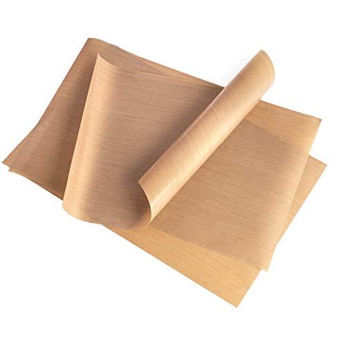 GOURMEO Carta da forno riutilizzabile (set da 3, 32 x 46 cm), facile da tagliare, lavabile in lavastoviglie ed ecologica | carta forno riusabile, riadoperabile