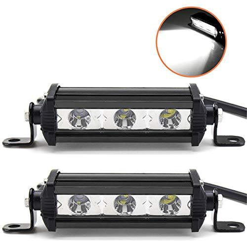Willpower 4 Zoll 15W einreihige LED-Lichtleiste Low Profile Ultradünner, schlanker Mini-Scheinwerfer für PKW, LKW, Anhänger, 4x4, SUV, ATV-2 Stücke