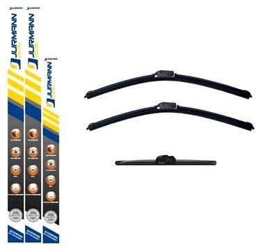 JURMANN VISION+ AERO SCHEIBENWISCHER 650/375 + 300 mm KOMPLETTSATZ VORNE + HINTEN WISCHBLÄTTER