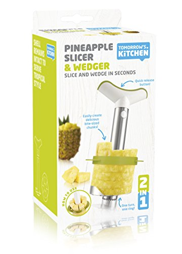 Tomorrow's Kitchen Pineapple Corer Slicer – Stainless Steel Durable Non-toxic Dishwasher Safe, Anti-Rust Material, Fruit, Salad Cocktail Bowl Chunks Wedger Decorative Netherland Kitchenware Utensil