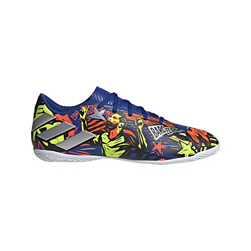 adidas Nemeziz Messi 19.4 IN, Zapatillas de fútbol para Hombre, AZUREA/Plamet/Amasol, 44 EU