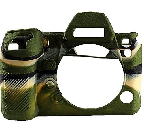 Fealay Cubierta de Silicona Adecuada for Panasonic LUMIX-DC-S1R S1, Caja de la cámara Cámara de Silicona Textura del lichí de la Cubierta (Color : Camo)