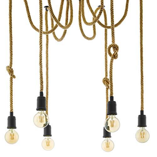 EGLO RAMPSIDE hanglamp, staal, zwart