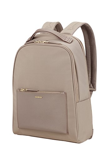 SAMSONITE BACKPACK 14.1' (BEIGE) -ZALIA  Zaino Casual, 48 cm, Beige