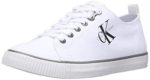 Calvin Klein Jeans Arnold Canvas, Zapatillas para Hombre, Blanco, 45 EU