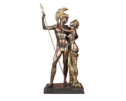 SDBRKYH Antike römische Krieger-Statue, Mittelalterlich griechischer Soldat Skulptur Dekoration Desktop-Retro Vintage Home Decor Resin Crafts