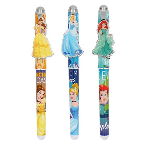 Disney Princess Metal Clip Pens - Set of 3, Multicolor