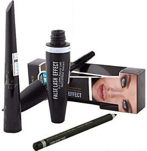 HR online FF 3 in 1 Combo Pack of Kajal with Eyeliner and Mascara