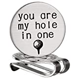 FAINOL You are My Hole in One Golf Ball Marker - Golf Accessories for Amateurs and Professionals - Magnetic Golf Clip - Magnetic Golf Ball Marker with Hat Clip for Boyfriend, Husband
