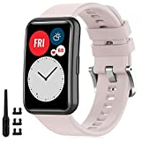 Find-MyWay Armband Kompatibel für Huawei Watch FIT Armband Damen Herren Ersatz Band, Pink Sport Ersatzarmband für Huawei Watch fit Zubehör,(kein Tracker)
