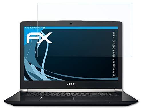 atFolix Schutzfolie kompatibel mit Acer Aspire V Nitro 7-793G 17,3 inch Folie, ultraklare FX Bildschirmschutzfolie (2X)