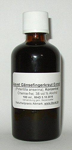 Asvet 100ml Gänsefingerkraut Tinktur, Tropfen, Konzentrat, ohne Chemie !